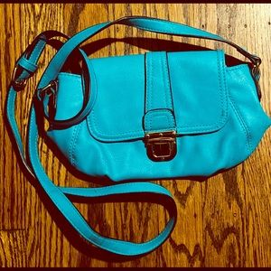Teal going out purse